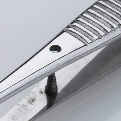 Iris Dissecting Forceps Straight 12 Teeth 11.5cm Close Up min