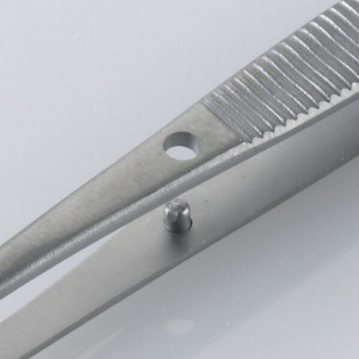 Susol Single Use Iris Dissecting Forceps Curved Serrated 11.5cm pk10 Pin min