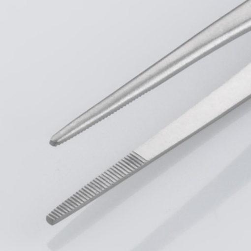 Susol Single Use Iris Dissecting Forceps Serrated Straight 11.5cm pk10 Jaws min