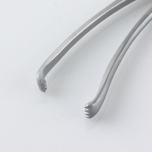 Susol Single Use Teale Vulsellum Forceps 34 Teeth 23cm pk10 Teeth min