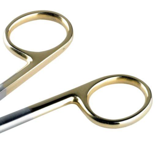 Tungsten Carbide Dressing Scissors BluntSharp Straight 15cm handles min