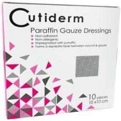 CUTIDERM PARAFFIN GAUZE 10CMX10CM 10 min
